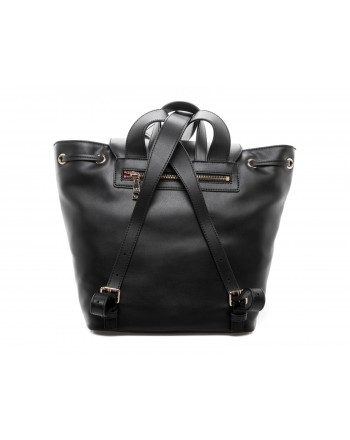 LOVE MOSCHINO - Ecoleather Backpack with Patches - Black