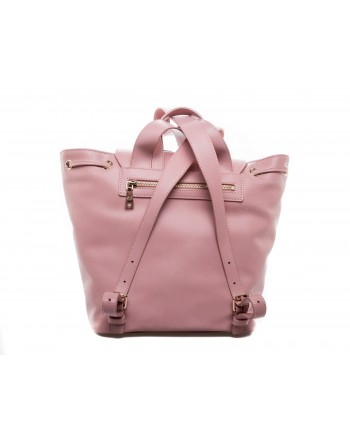 LOVE MOSCHINO - Ecoleather Backpack with Patches - Pink