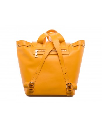 LOVE MOSCHINO - Ecoleather Backpack with Patches - Mustard Yellow