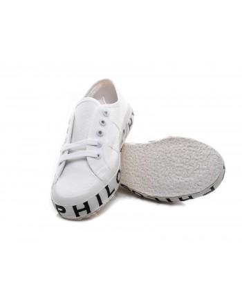 PHILOSOPHY di LORENZO SERAFINI - SUPERGA x PHILOSOPHY Sneakers with Logo Sole - White