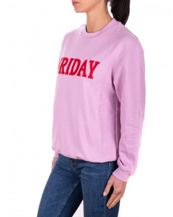 ALBERTA FERRETTI - FRIDAY Cotton Sweatshirt  - Lilac