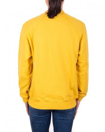 ALBERTA FERRETTI - WEDNESDAY Cotton Sweatshirt - Mustard