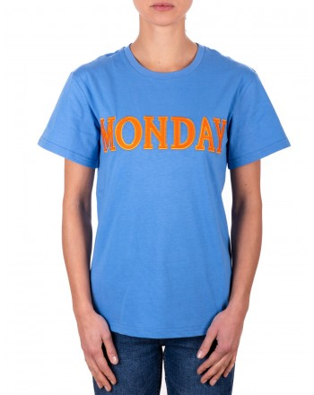 ALBERTA FERRETTI - Cotton T-Shirt MONDAY - Avion
