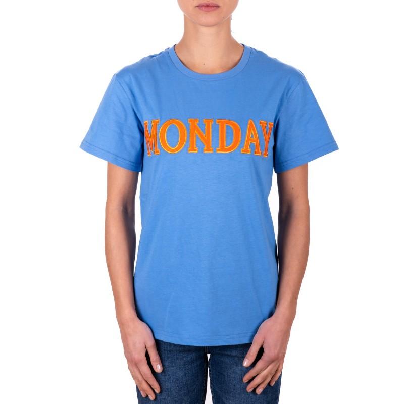 ALBERTA FERRETTI - T-Shirt in Jersey Cotone MONDAY -Avion