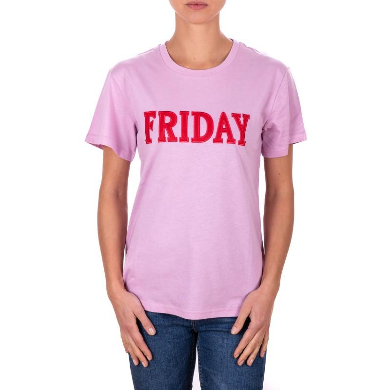 ALBERTA FERRETTI - T-Shirt in Jersey Cotone FRIDAY - Lilla