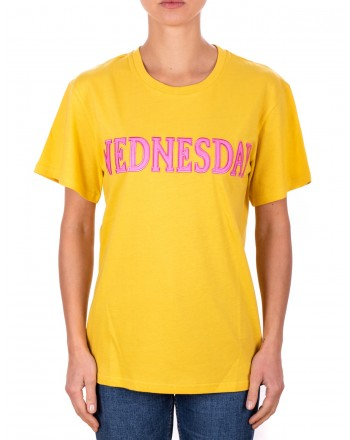 ALBERTA FERRETTI -  T-shirt in jersey cotone WEDNESDAY - Senape