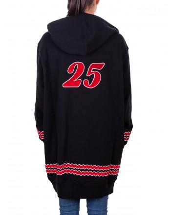 PHILOSOPHY di LORENZO SERAFINI - Cotton Sweatshirt TEAM SANTA  - Black/Red