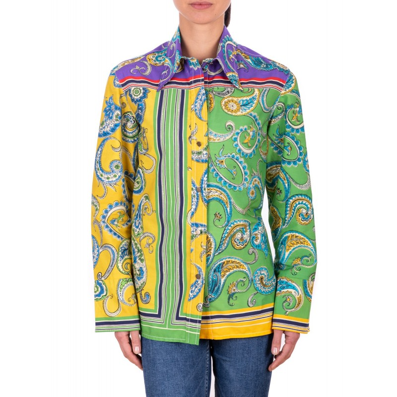 PHILOSOPHY di LORENZO SERAFINI - Multicolour patterned Cotton Blouse  - Multicolor