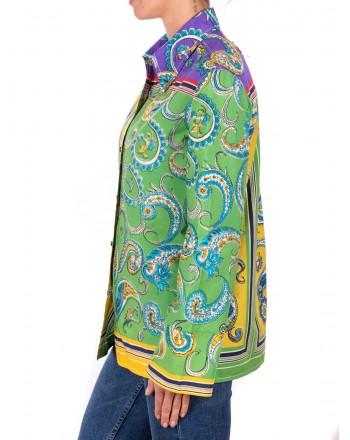 PHILOSOPHY di LORENZO SERAFINI - Blusa in Cotone a stampa Fantasia - Multicolor