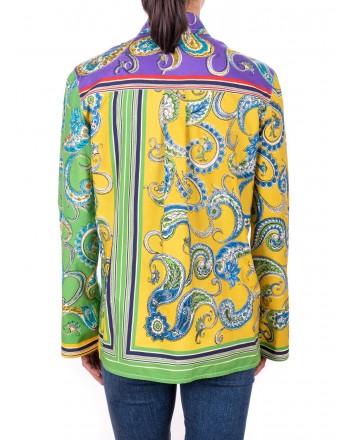 PHILOSOPHY di LORENZO SERAFINI - Multicolour patterned Cotton Blouse  - Multicolor