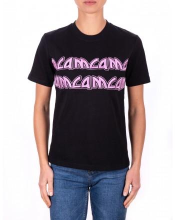 MCQ BY ALEXANDER MCQUEEN - T-Shirt in Cotone con Logo Ricamato - Nero