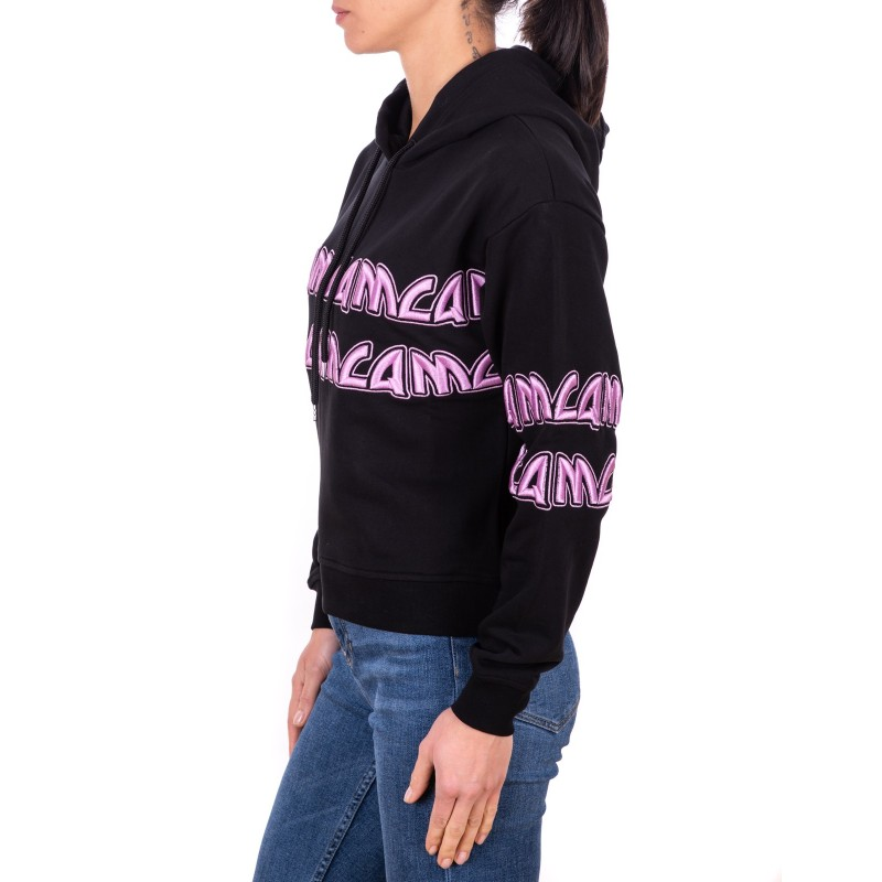 MCQ BY ALEXANDER MCQUEEN - Cotton Sweatshirt with Metal writings - Black