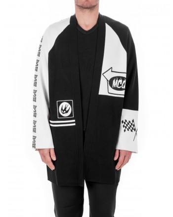 MCQ BY ALEXANDER MCQUEEN - Cotton Cardigan - Black/White