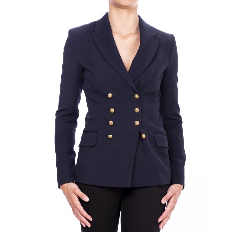 PINKO- Double Breasted Jacket MACCHINA - Blue