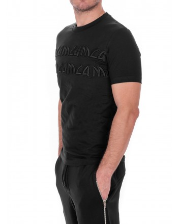 MCQ BY ALEXANDER MCQUEEN - Cotton T-Shirt with Metal style Logo - Black