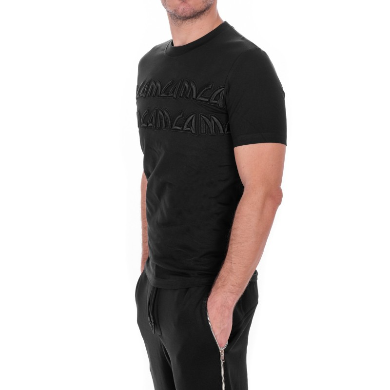 MCQ BY ALEXANDER MCQUEEN -  T-Shirt in cotone con Logo in stile Metal - Nero