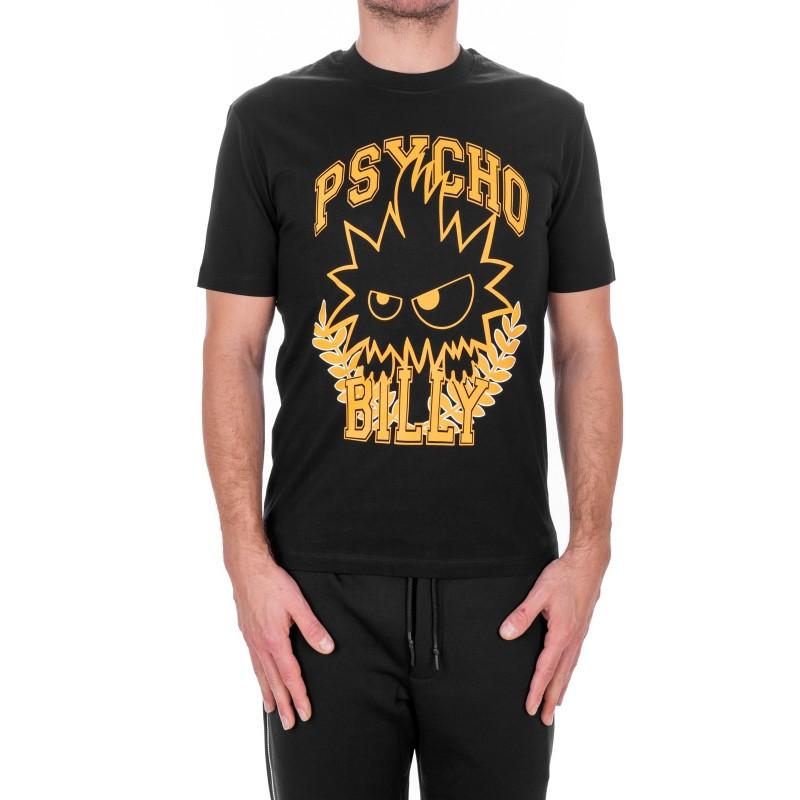 MCQ BY ALEXANDER MCQUEEN - PSYCHO BILLY Cotton T-Shirt - Black