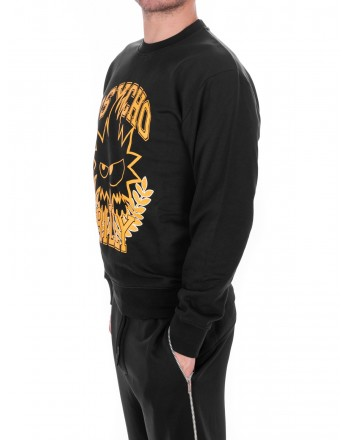 MCQ BY ALEXANDER MCQUEEN - Cotton Sweatshirt PSYCHO BILLY  - Black
