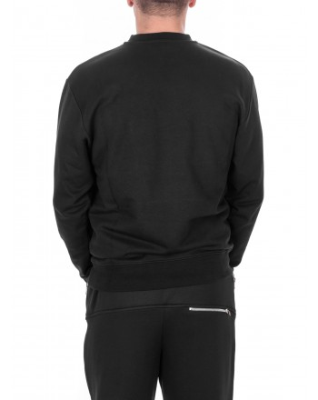 MCQ BY ALEXANDER MCQUEEN - Cotton Sweatshirt PSYCHO BILLY  - Black