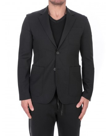 MCQ BY ALEXANDER MCQUEEN - Giacca Recycled Casual in Lana a due Bottoni - Nero
