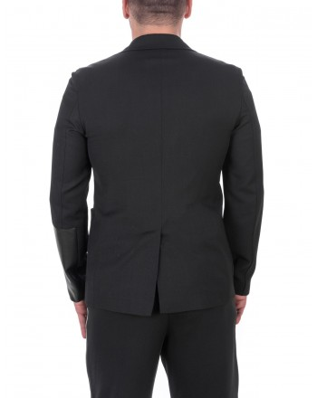 MCQ BY ALEXANDER MCQUEEN - Wool Recycled Casual Jacket with 2 Buttons - Black