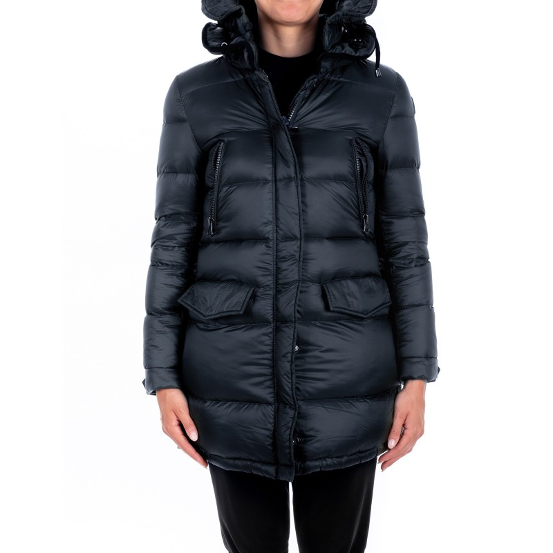12a6c1d104 INVICTA - Quilted down jacket with Hood - Dark Blue