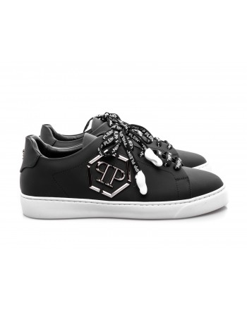 PHILIPP PLEIN - Sneakers Low Top con Logo metallico - Nero
