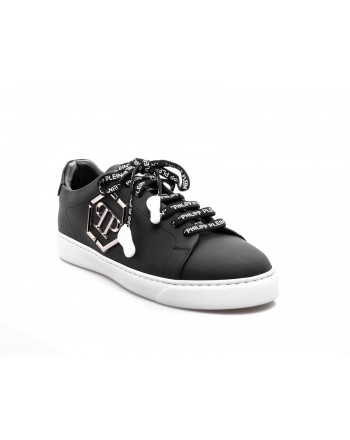 PHILIPP PLEIN - Low Top Sneakers with metallic Logo - Black