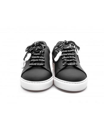 PHILIPP PLEIN - Low Top Sneakers with metallic Logo - Black