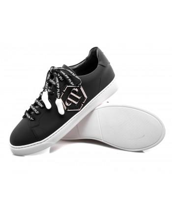 PHILIPP PLEIN - Sneakers Low Top con Logo metallico - Nero