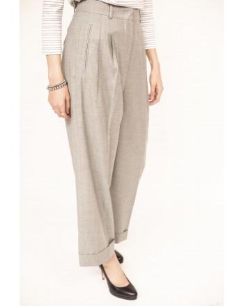 MAX MARA STUDIO - PECCATI trousers in wool and viscose  - Grey