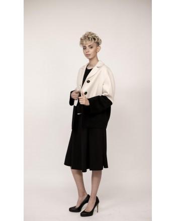 WEEK END MAX MARA - ARDENNE wool jacket - White/Black