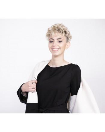 WEEK END MAX MARA - Giacca ARDENNE in lana - Bianco Nero