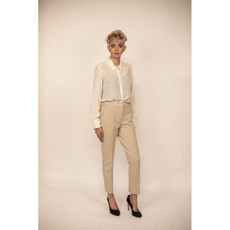 MAX MARA - Jersey Trousers PEGNO - Rope Beige