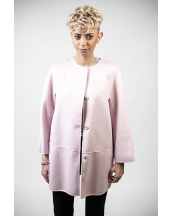 MAX MARA STUDIO - NANNI coat in silk and cashmere - Pink