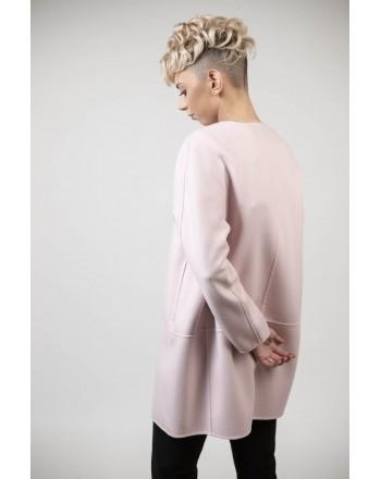 MAX MARA STUDIO - NANNI coat in silk and cashmere - Pink