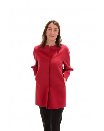 MAX MARA STUDIO - Silk and Cashmere NANNI Coat - Red