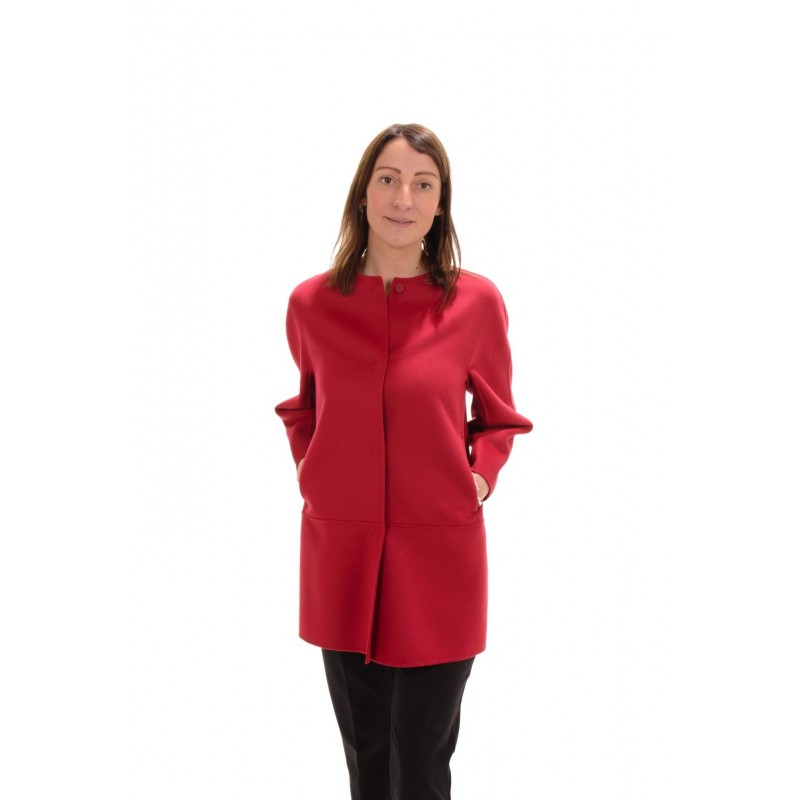 MAX MARA STUDIO - Cappotto NANNI in seta e cashmere - Rosso