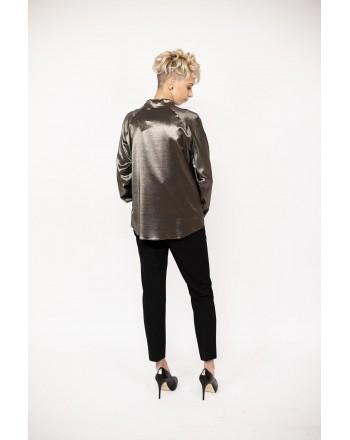 MAX MARA - TITTY Silk shirt - Black/Gold