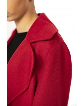 MAX MARA STUDIO - Cashmere and Camel Hair MASTER Coat - Red