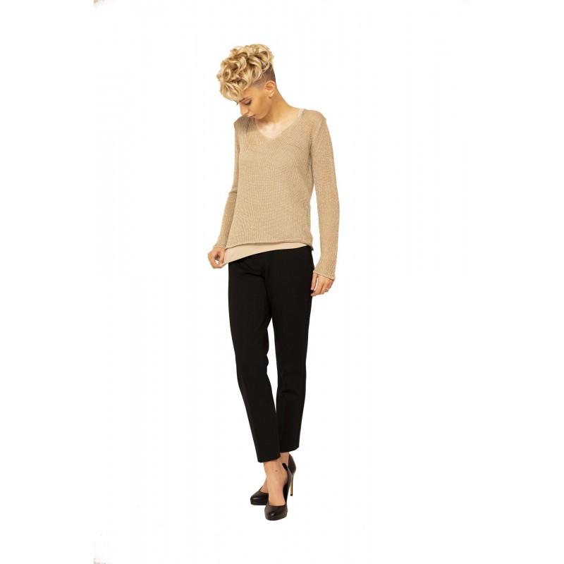 MAX MARA - Micropierced Cotton Knit FIUMANA - Rope Beige