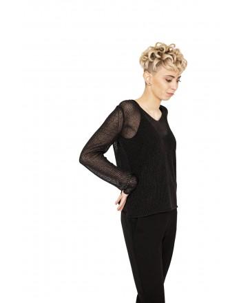MAX MARA - Cotton MicroPierced Knit  FIUMANA - Black