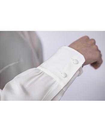 WEEKEND MAX MARA - Camicia in Seta con bottoni in tinta DALMINE  - Bianco