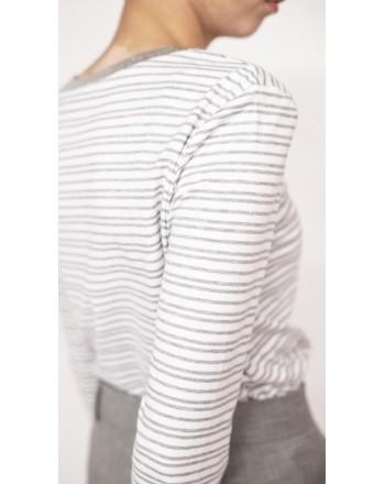 MAX MARA STUDIO - T-shirt in jersey - Bianco/Grigio