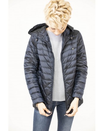 MAX MARA  THE CUBE -Lightweight Down Jacket ETRES  with Hood and Pockets -  Dark Blue