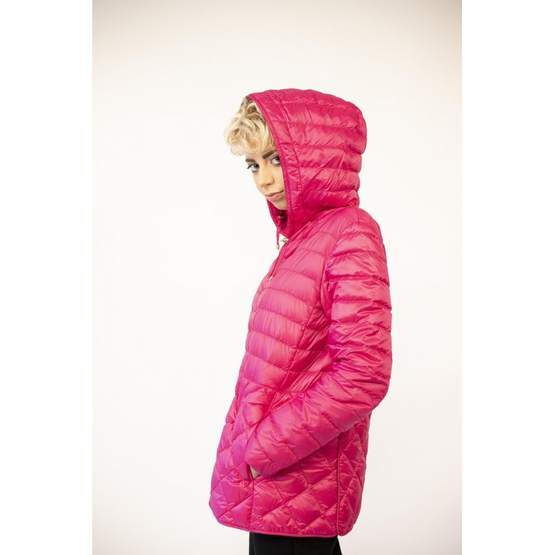 MAX MARA  THE CUBE - Lightweight Down Jacket ETRES with Hood - Fucsia