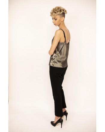 MAX MARA - MESSINA in Silk - Black/Gold
