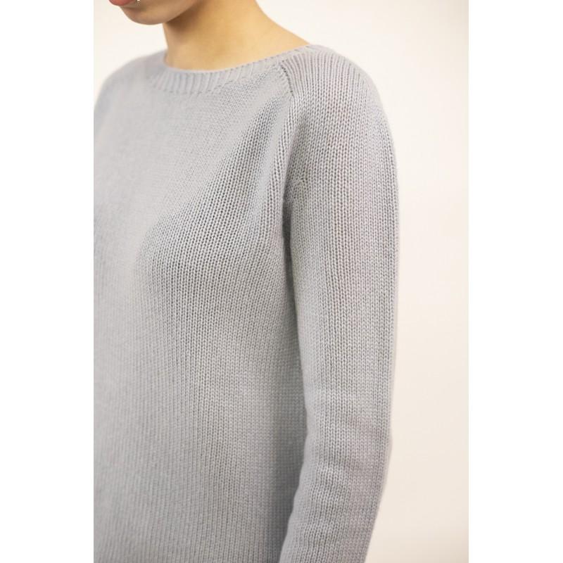 S MAX MARA - Cashmere Knit GIORGIO - Delicate Blue