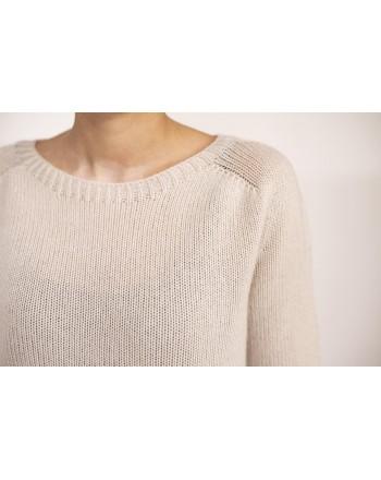 S-MAX MARA - Cashmere Sweater GIORGIO - White Sand