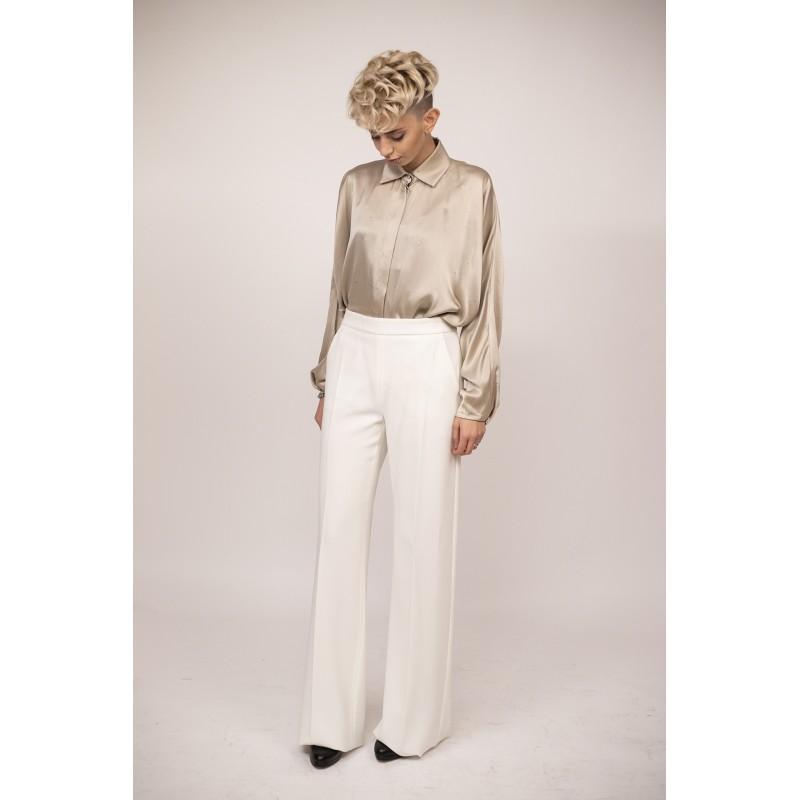 MAX MARA - Pantalone CANDITI in cady - Bianco
